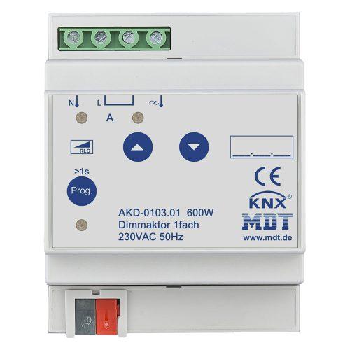 AKD-010301 - Dimming Actuator 1 fold, 4SU MDRC, 600W, 230VAC