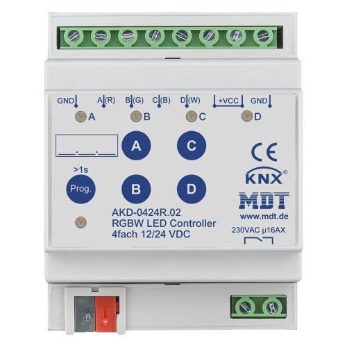 AKD-0424R02 - LED Controller 4 fold, RGBW, 4SU MDRC
