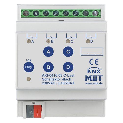 AKI-041603 - Switch Actuator 4 fold, 4SU MDRC, 1620A, 230VAC, C-load, industrie, 200μF