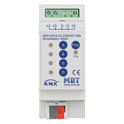 AKK-041603 - Switch Actuator 4 fold, 2SU MDRC, 16A, 70µ, 10ECG, 230VAC, Compact