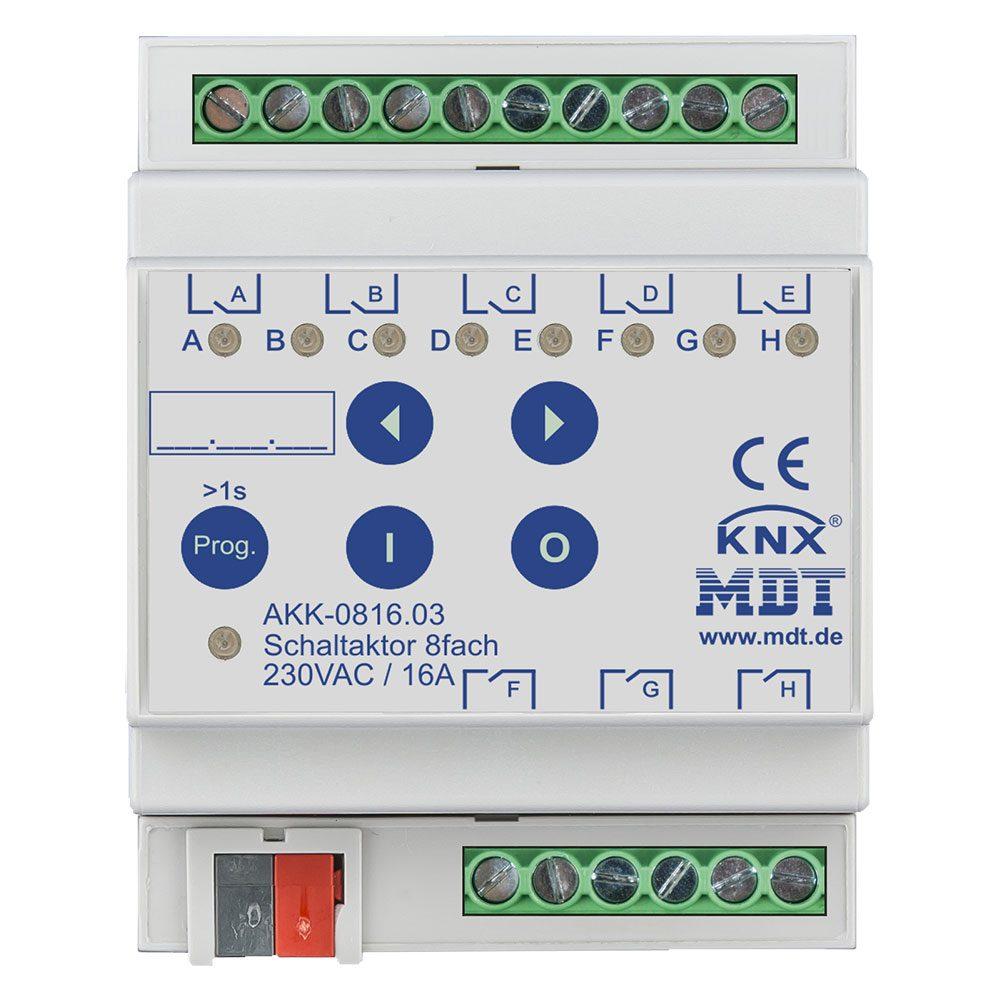 AKK-081603 - Switch Actuator 8 fold, 4SU MDRC, 16A, 70µ, 10ECG, 230VAC, Compact