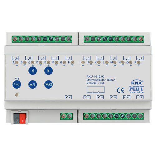 AKU-161602 - Universal Actuator 16 fold, 8SU MDRC, 16A, 100µF, 15ECG, 230VAC