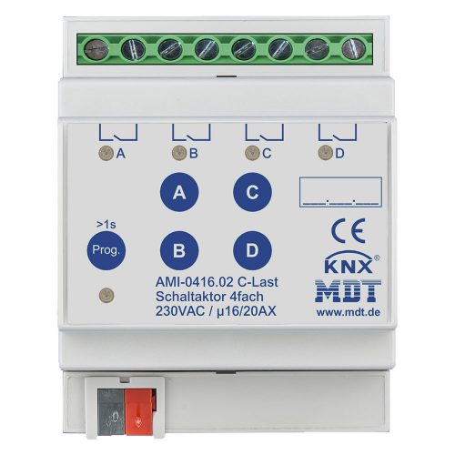 AMI-041602 - Switch Actuator 4 fold, 4SU MDRC, 1620A, 230VAC, C-load, industrie, 200μF, current measurement