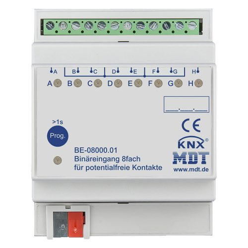 BE-0800001 - Binary Input 8 fold, 4SU MDRC, Contact Inputs