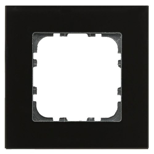 BE-GTR1S.01 - Glass cover frame for 55 mm range 1 fold, Black