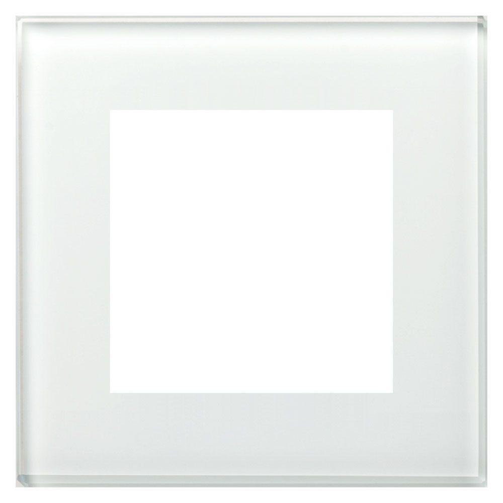 BE-GTR1W.01 - Glass cover frame for 55 mm range 1 fold, White