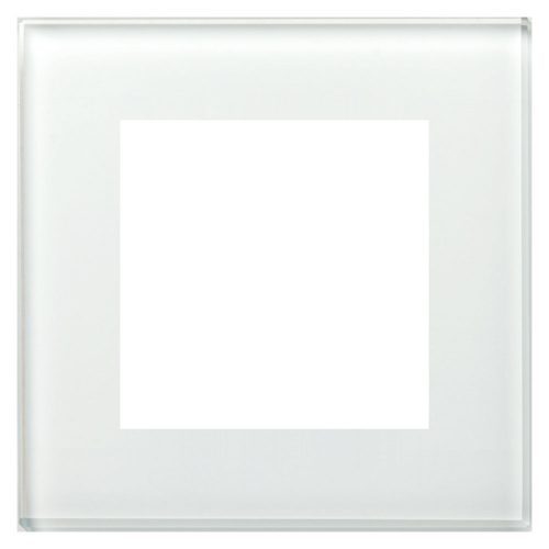 BE-GTR1W.01 - Glass cover frame for 55 mm range 1 fold, White