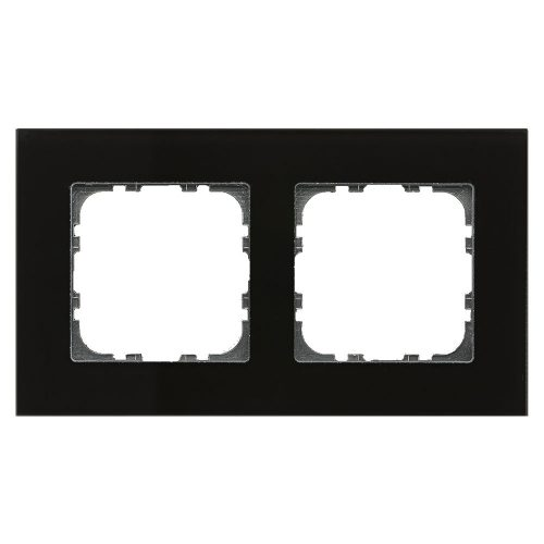 BE-GTR2S.01 - Glass cover frame for 55 mm range 2 fold, Black