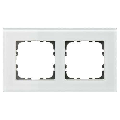 BE-GTR2W.01 - Glass cover frame for 55 mm range 2 fold, White