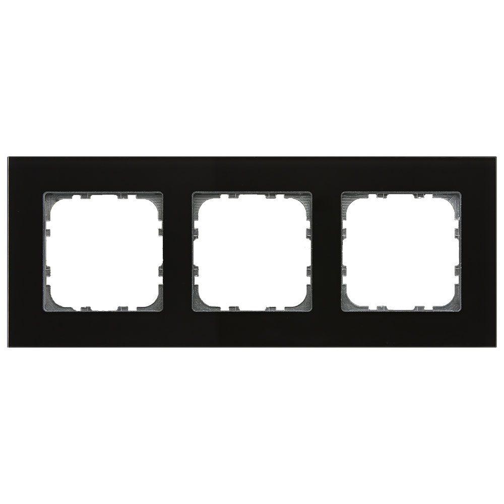 BE-GTR3S01 - Glass cover frame for 55 mm range 3 fold, Black
