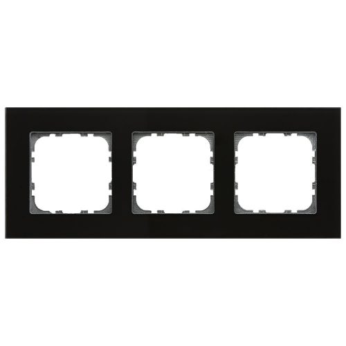 BE-GTR3S01 - Glass cover frame for 55 mm range 3 fold, Black