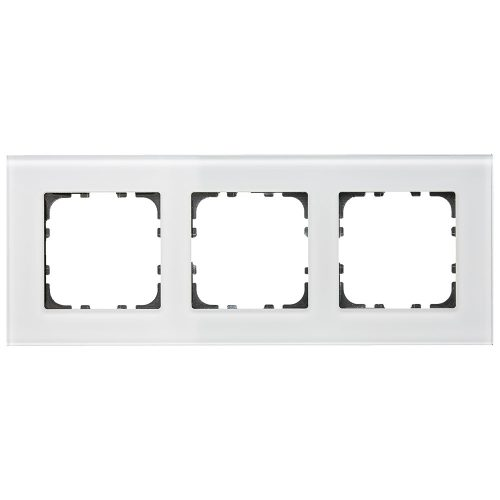 BE-GTR3W01 - Glass cover frame for 55 mm range 3 fold, White