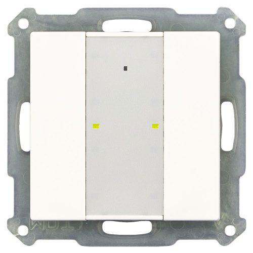 BE-TA55P2.01 - Push Button 2 fold Plus, LED, White Matt finish