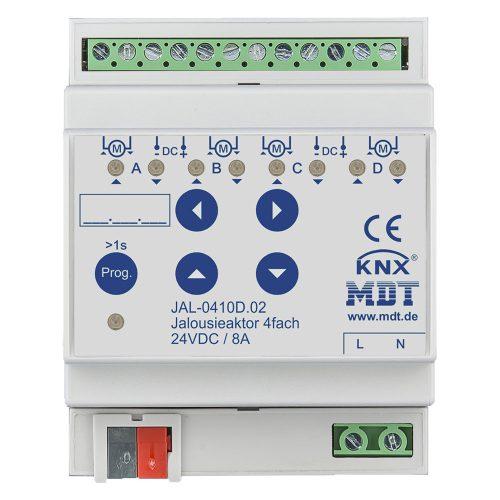 JAL-0410D02 - Shutter Actuator 4 fold, 4SU MDRC, 8A, 24VDC
