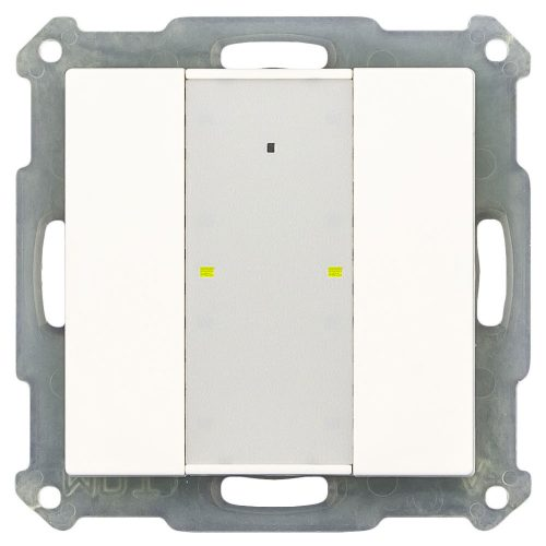 RF-TA55A201-KNX-RF - Push Button 2 fold Plus with Actuator, White Matt finish, for ETS5
