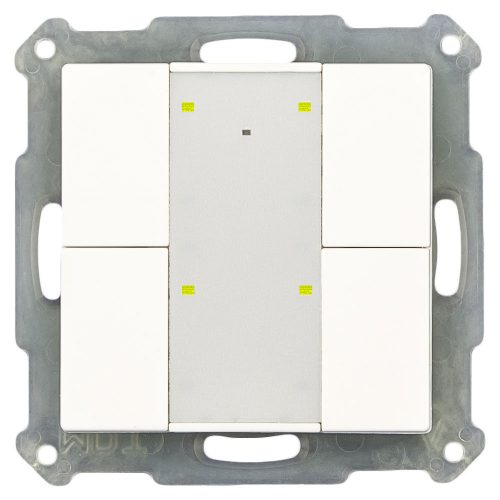 RF-TA55A401-KNX-RF - Push Button 4 fold Plus with Actuator, White Matt finish, for ETS5