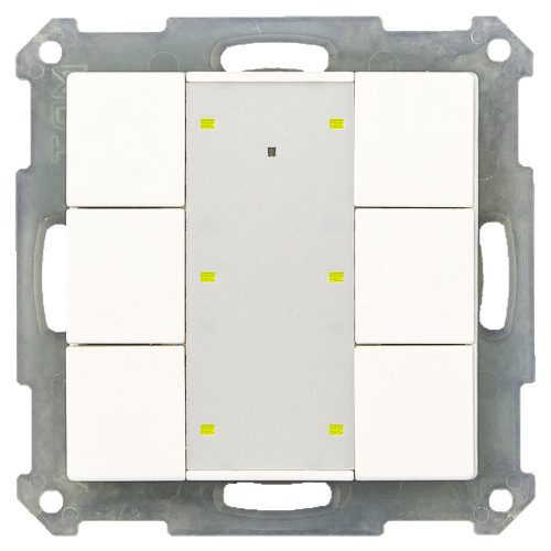 RF-TA55A601-KNX-RF - Push Button 6 fold Plus with Actuator, White Matt finish, for ETS5