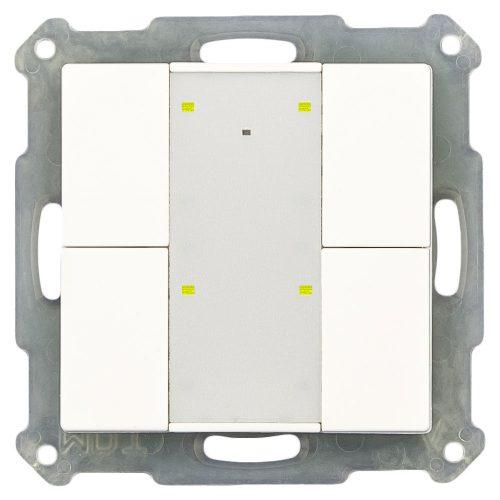 RF-TA55P401-KNX-RF - Push Button 4 fold Plus, White Matt finish, for ETS5