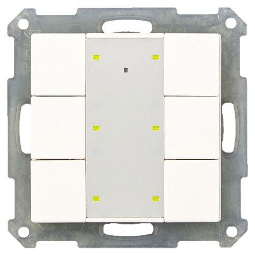 RF-TA55P601-KNX-RF - Push Button 6 fold Plus, White Matt finish, for ETS5