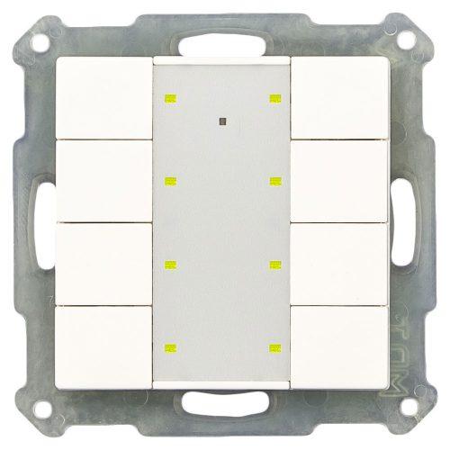 RF-TA55P801-KNX-RF - Push Button 8 fold Plus, White Matt finish, for ETS5
