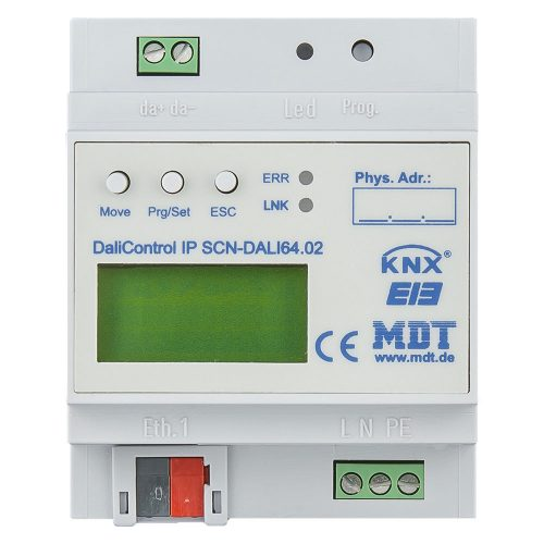 SCN-DALI6402 - Dali Control IP Gateway with webinterface, 4SU MDRC