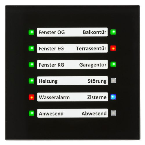 SCN-GLED1S01 - Glass LED Indicator, Black