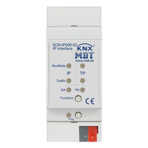 SCN-IP00002 - IP Interface, 2SU MDRC, with Email and time server functions, Power supply by KNX bus