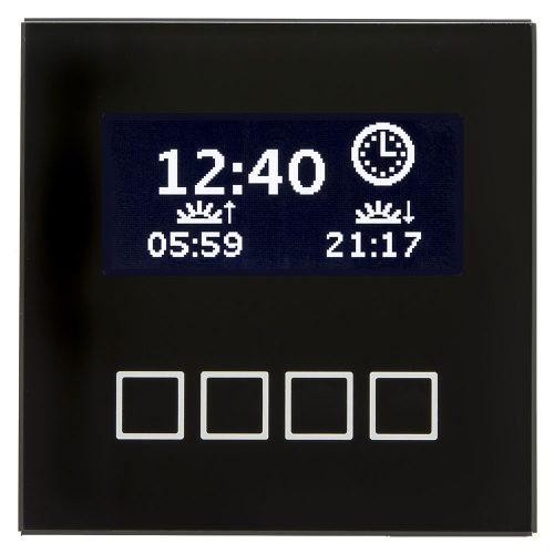 SCN-LCDGS01 - Glass Central Operation Unit with LCD display, Black