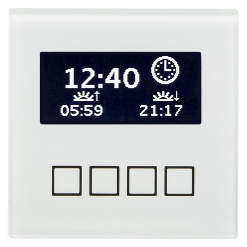 SCN-LCDGW01 - Glass Central Operation Unit with LCD display, White
